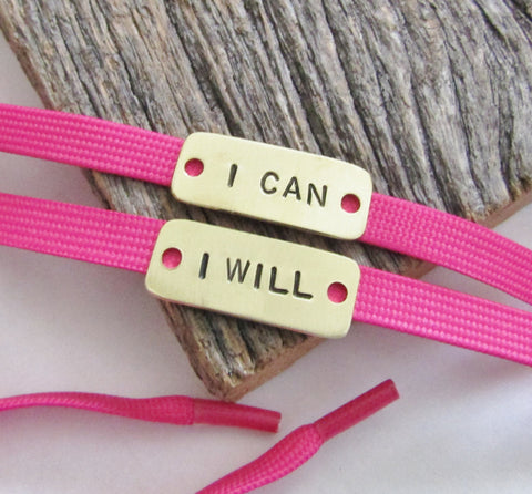 I Can & I Will - Personalized Running Shoe Tags for Cancer Walk
