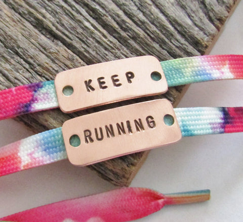 Personalized Shoe Tag Marathon Jewelry Half Marathon Shoe Clip Inspirational Shoe Lace Tag Metal Running Shoe Tag I Run 4 Mom