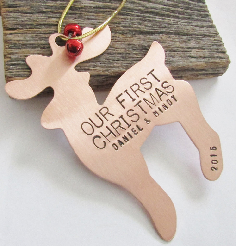 Our First Christmas - Personalized Christmas Ornament with Names and Year