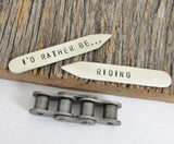 I'd Rather Be Riding - Personalized Collar Bar for Men