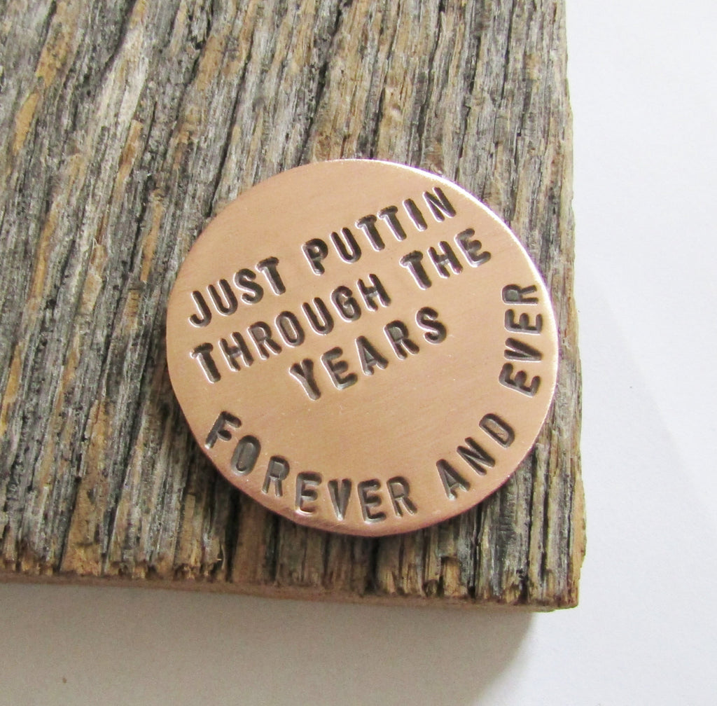 Anniversary Gift Golf Gift Women 7th Anniversary Gift for Men Personalized Ball Marker Husband Seventh Anniversary Gift for Wife Copper Gift