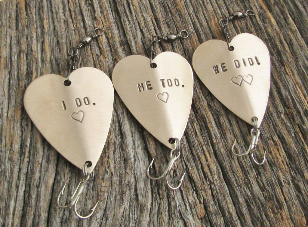 I Do Me Too We Do Wedding Gift Engagement Gift Bridal Shower Gift Table Display Wedding Decor Fishing Lure Unique Present Bride and Groom