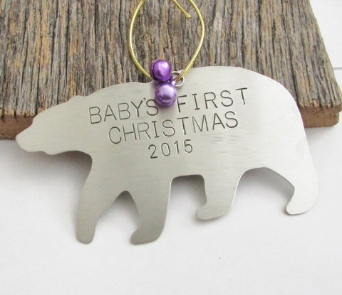Baby's First Christmas Ornament Baby Girl Gift Personalized Christmas Ornament Childrens Ornament 1st Christmas Babies Child Gift for Mom
