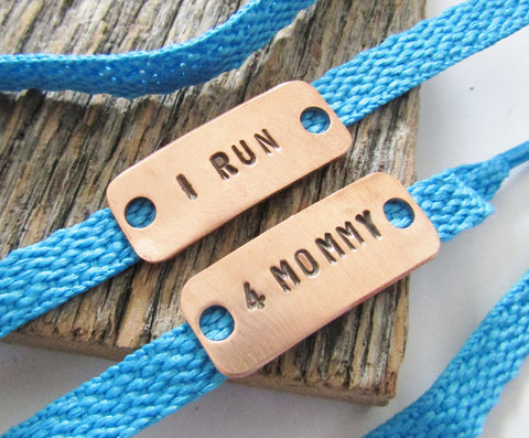 I Run 4 Mommy - Customized Athletic Sneaker Tag for Memorial Runs