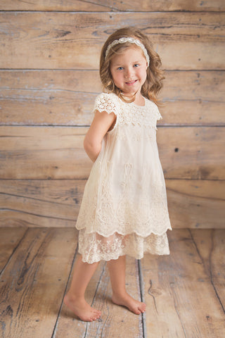 Alice - Ivory Lace Dress