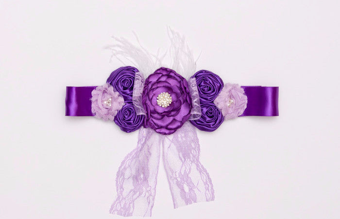 Purple & Lavender Maternity Sash, Maternity Photography Prop