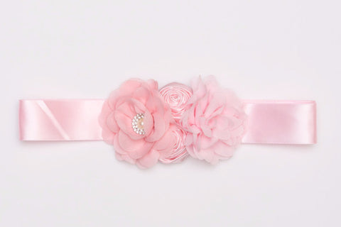 Light Pink Flower Maternity Sash, Maternity Photography Prop