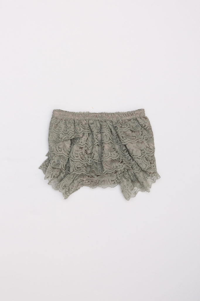 Lace Ruffle Bloomers - Gray