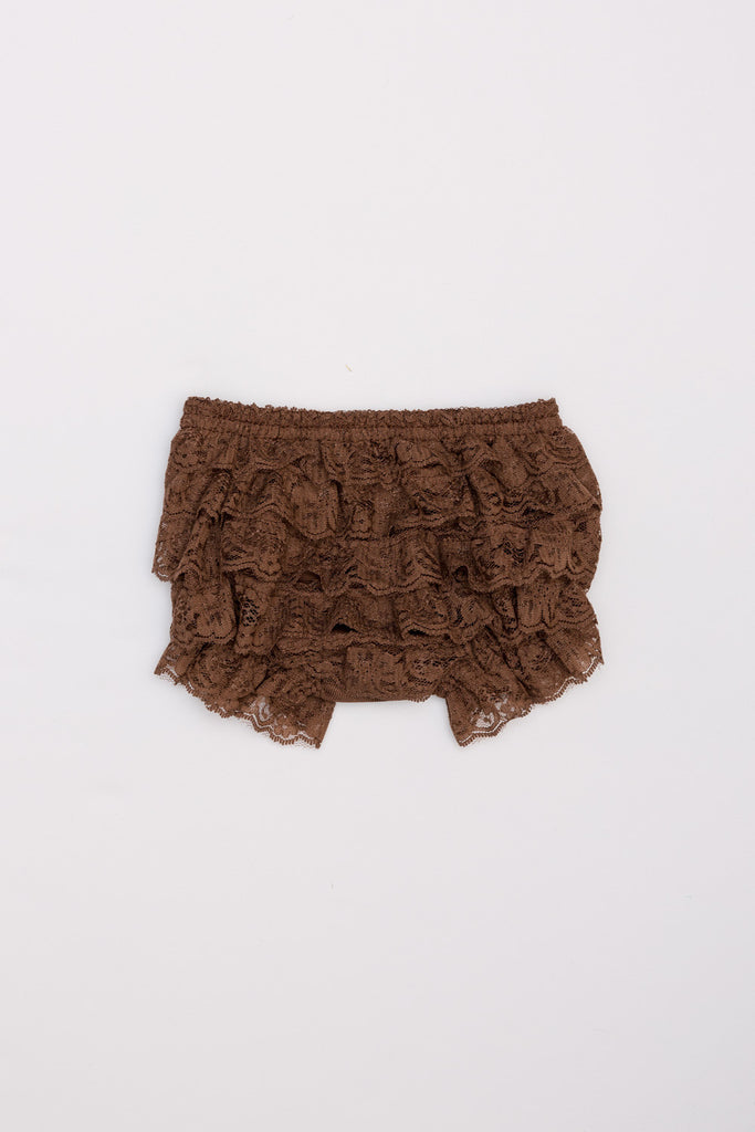 Lace Ruffle Bloomers - Brown