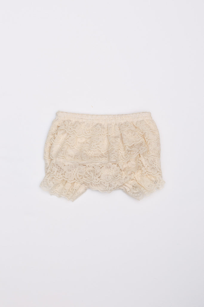 Lace Ruffle Bloomers - Cream