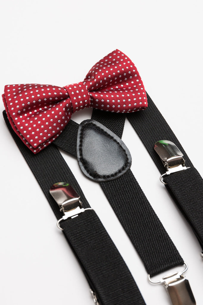 Polka Dot Bow Tie & Suspender Set