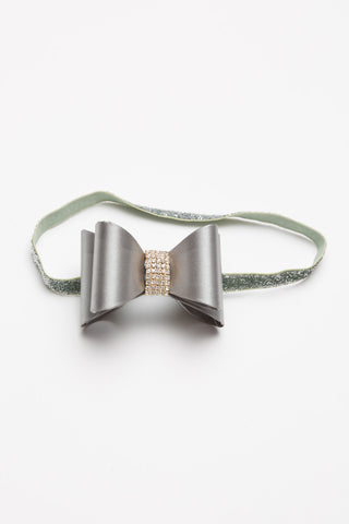 Bow Headband - Gray
