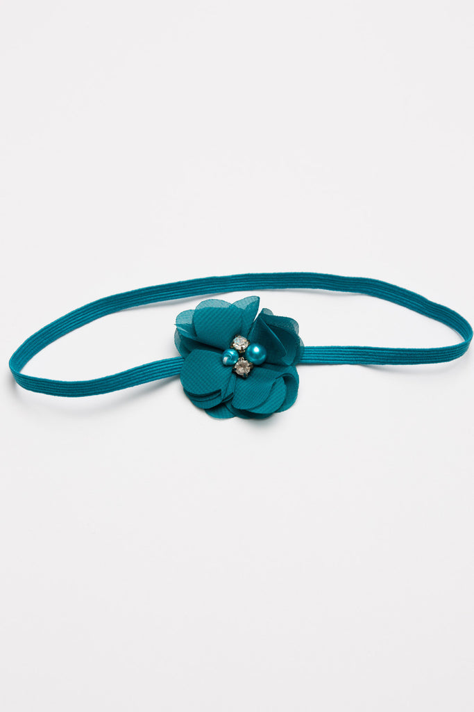 Flower Headband - Teal