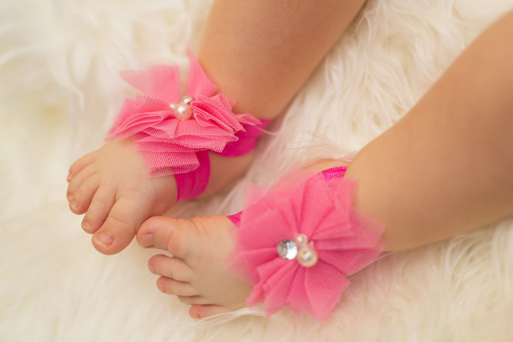 Baby Barefoot Sandals - Pink