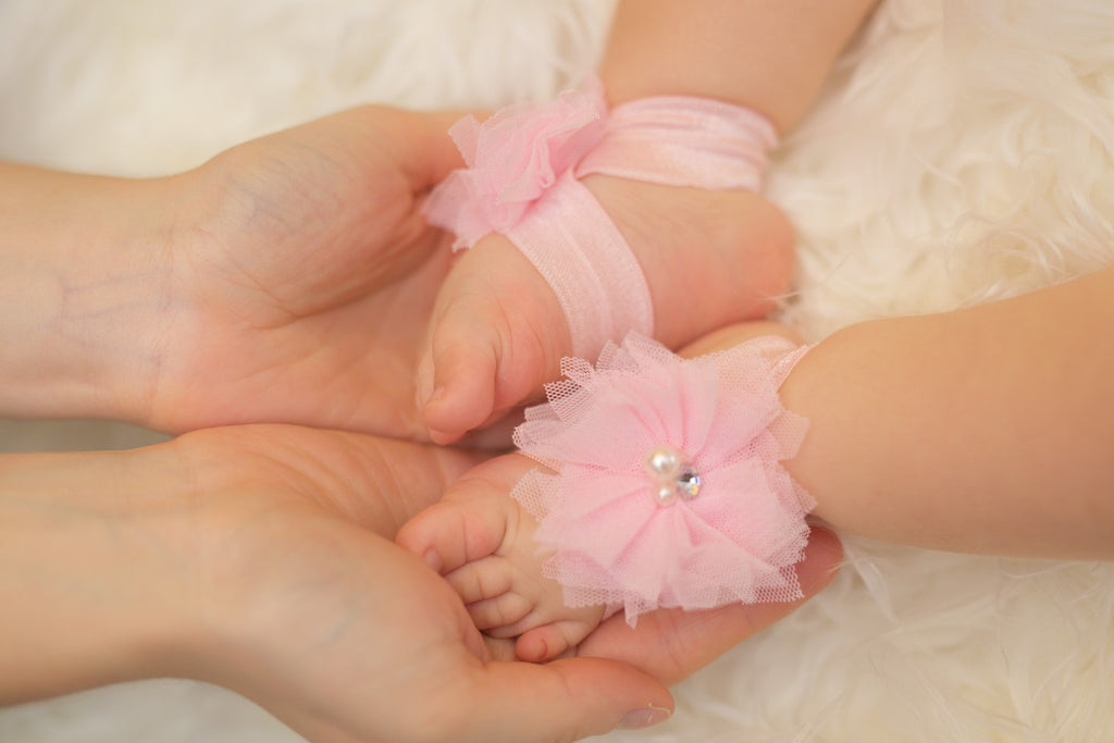 Baby Barefoot Sandals - Light Pink