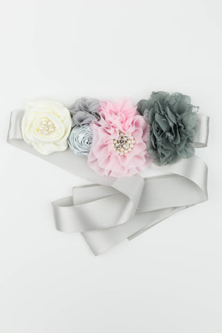 Gray Maternity Sash