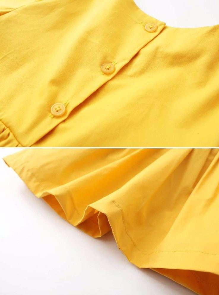 Luna - Yellow Cotton Dress