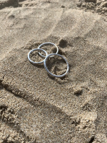 Sterling Sliver Hammered Stacking Ring