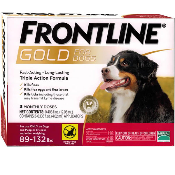 Frontline Gold 89+lbs XLarge Dogs 3 Dose