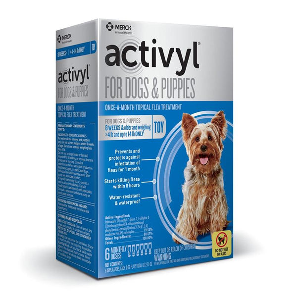 ACTIVYL Toy Dog 4 - 14lbs. White & Blue 6pk