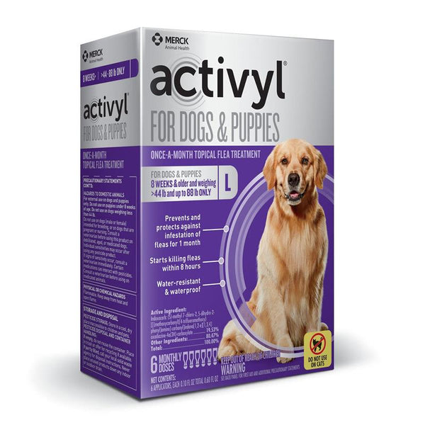 ACTIVYL Large Dog 45 - 88lbs. White & Purple - 6pack
