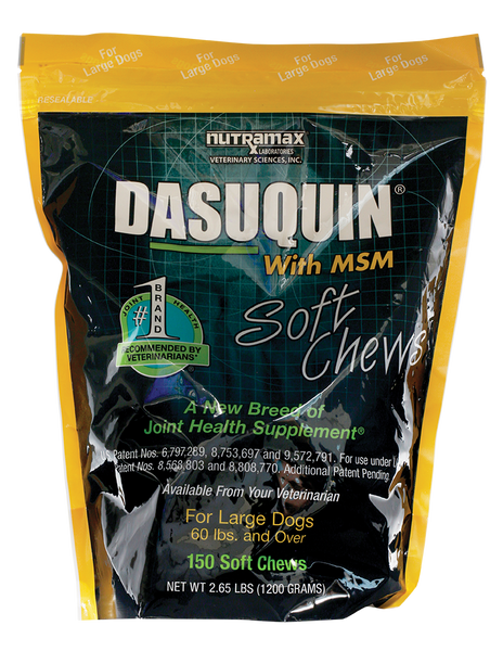 Dasuquin Soft Chews Large Dogs with MSM 150ct Short Dated 6/19