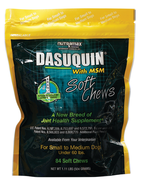 Dasuquin Soft Chews Small to Medium Dogs with MSM 84ct Short Dated 7/19