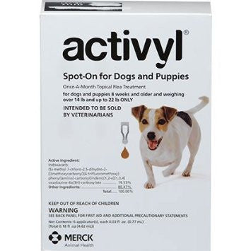 ACTIVYL Small Dog 15 - 22lbs. White & Coffee 6pk