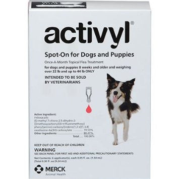 ACTIVYL Medium Dog 23 - 44lbs. White & Magenta - 6pack