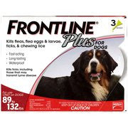 Frontline Plus Red 89-132lbs Dogs 3 pk