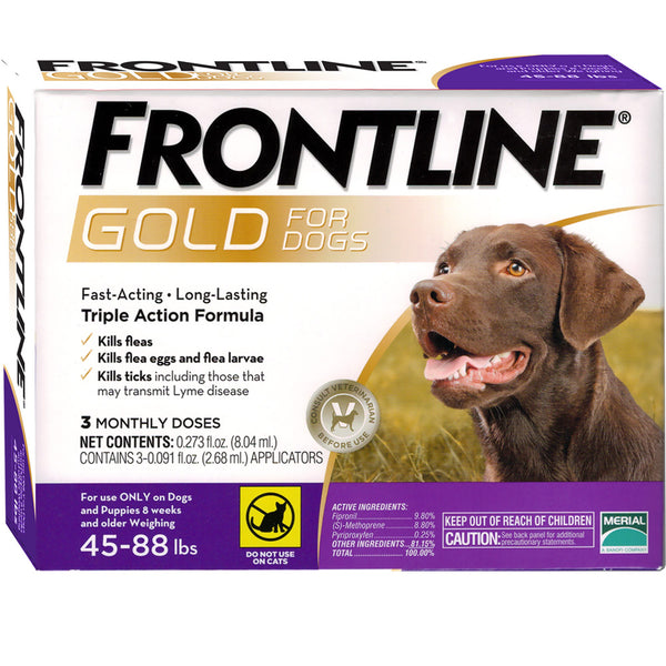 Frontline Gold 45-88lbs Large Dogs 3 Dose