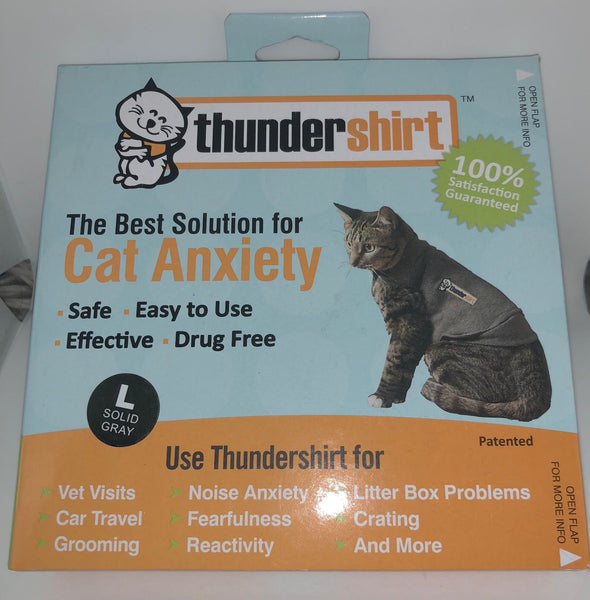 Thundershirt Cat Anxiety Treatment - Grey Large Over 13lbs