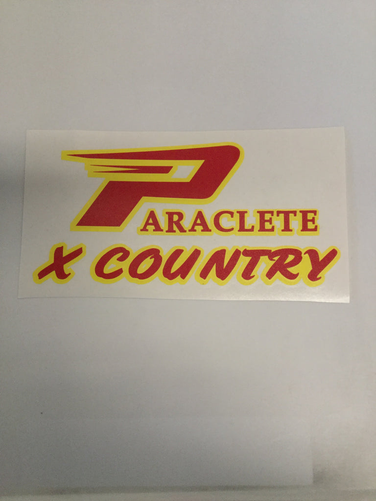 """Paraclete Cross Country"" Sticker"
