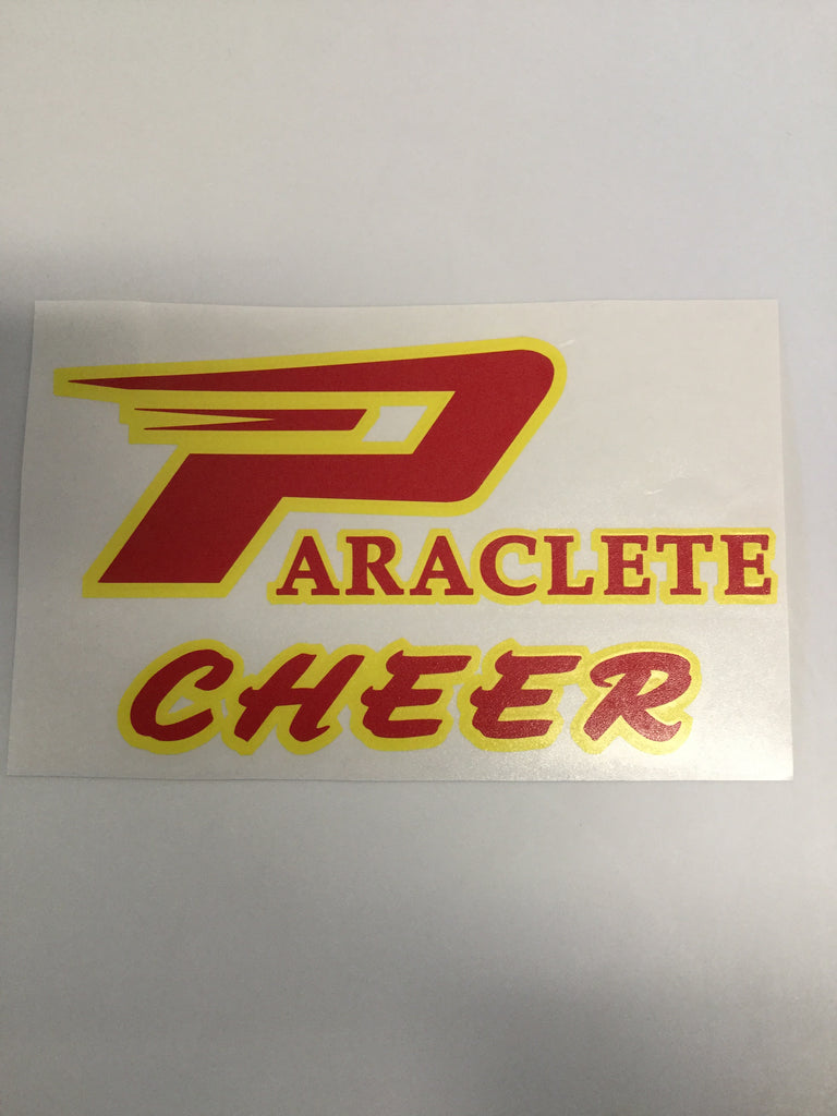 """Paraclete Cheer"" Sticker"