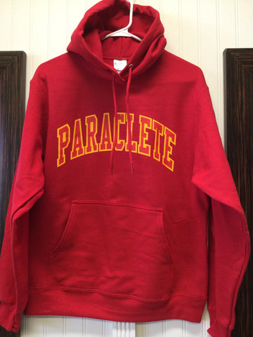 Sweatshirt Hooded Red w/red on gold PARACLETE