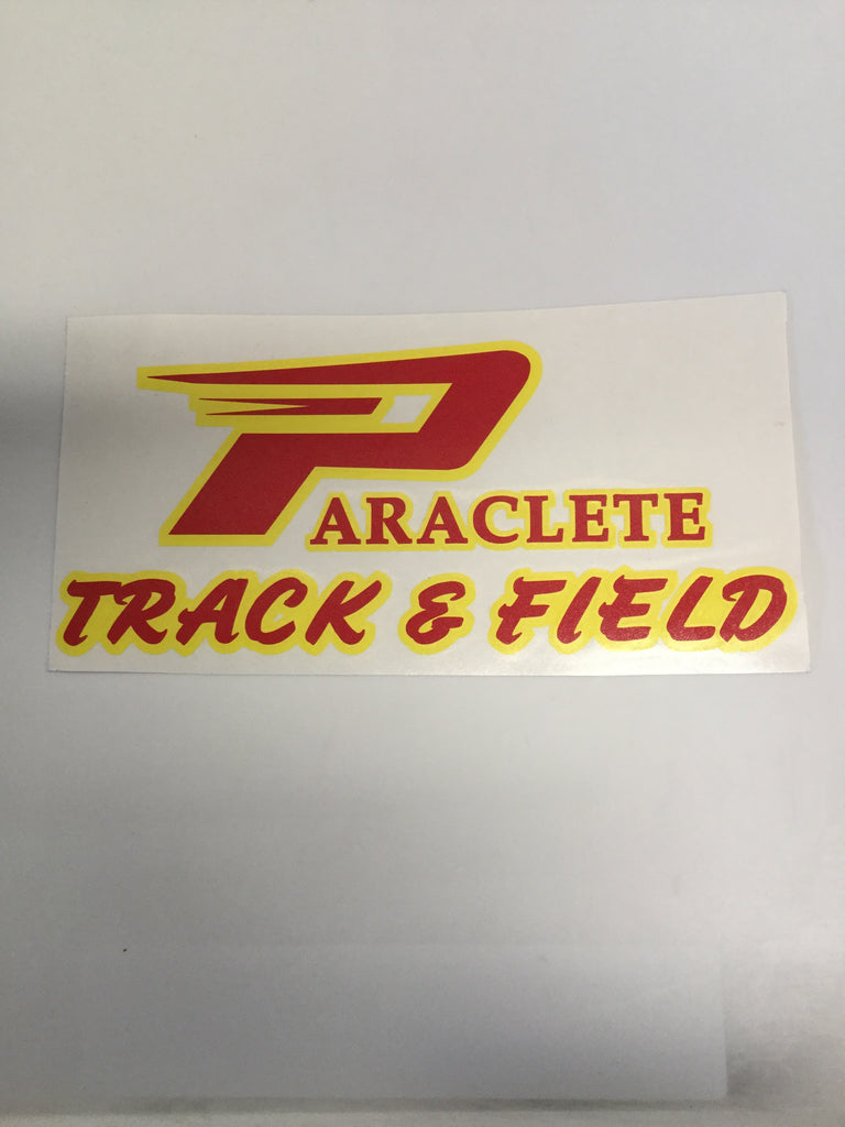 """Paraclete Track & Field"" Sticker"