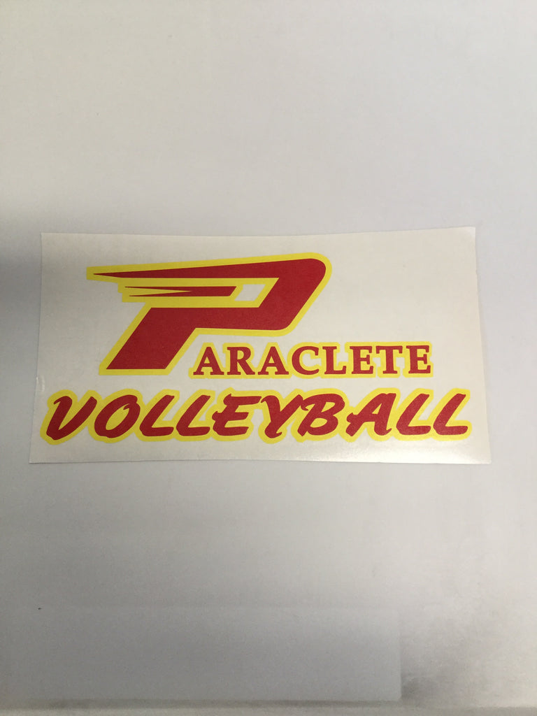 """Paraclete Volleyball"" Sticker"
