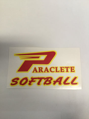 """Paraclete Softball"" Sticker"
