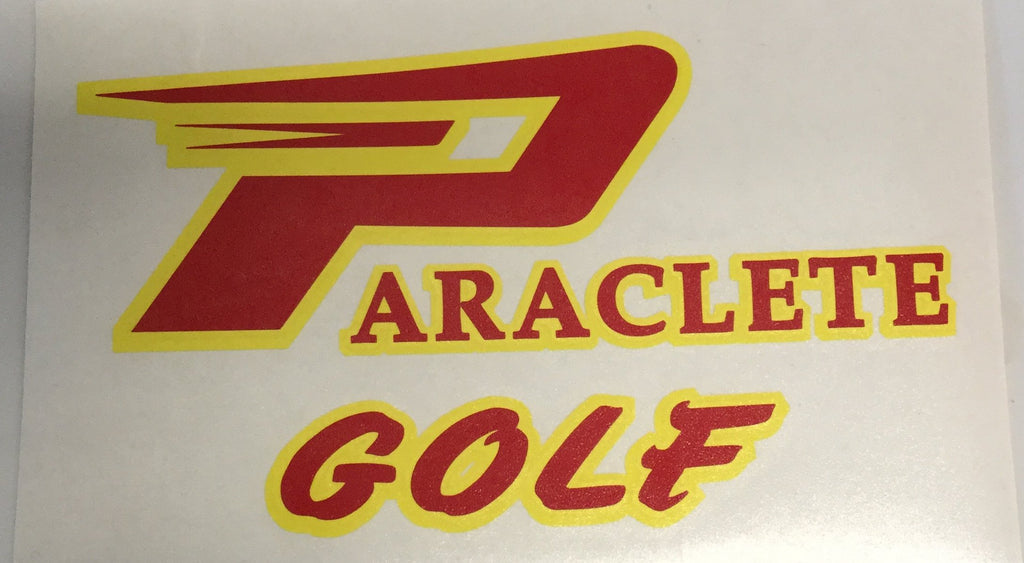 """Paraclete Golf"" Sticker"