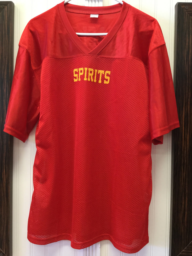 Men's Red Satin and Mesh Jersey