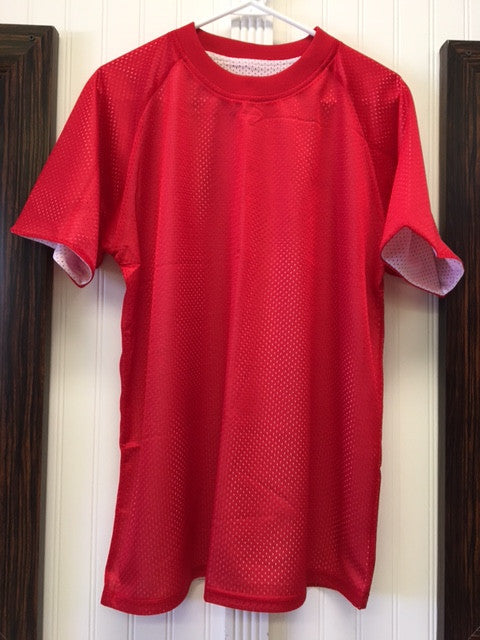 PE Unisex Shirt New Reversible Mesh Jersey Red & White