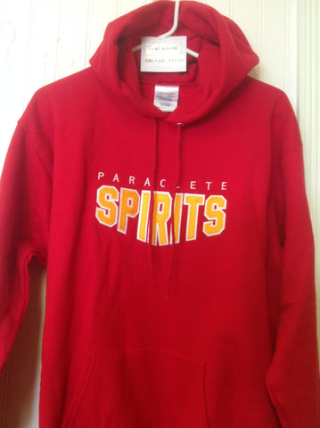 Sweatshirt Hooded Red Tackle Twill