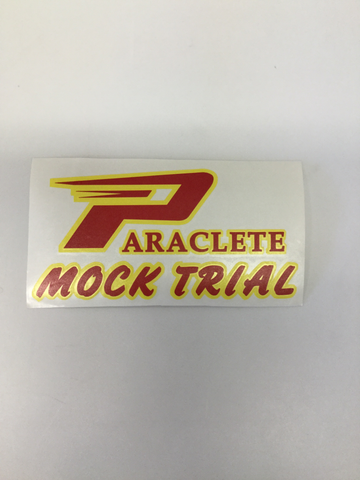 """Paraclete Mock Trial"" Sticker"