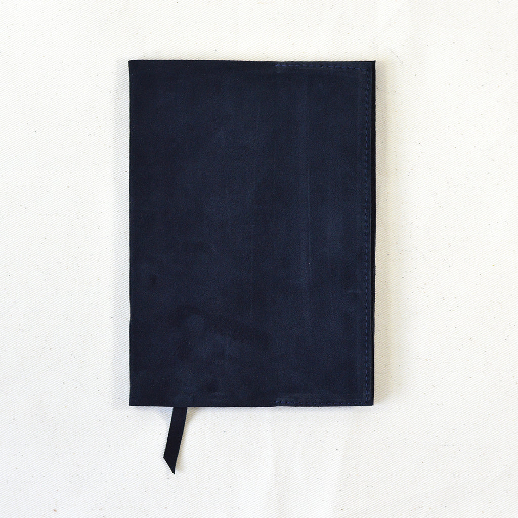 Chapman A5 Loose Cover & Notebook Navy Suede