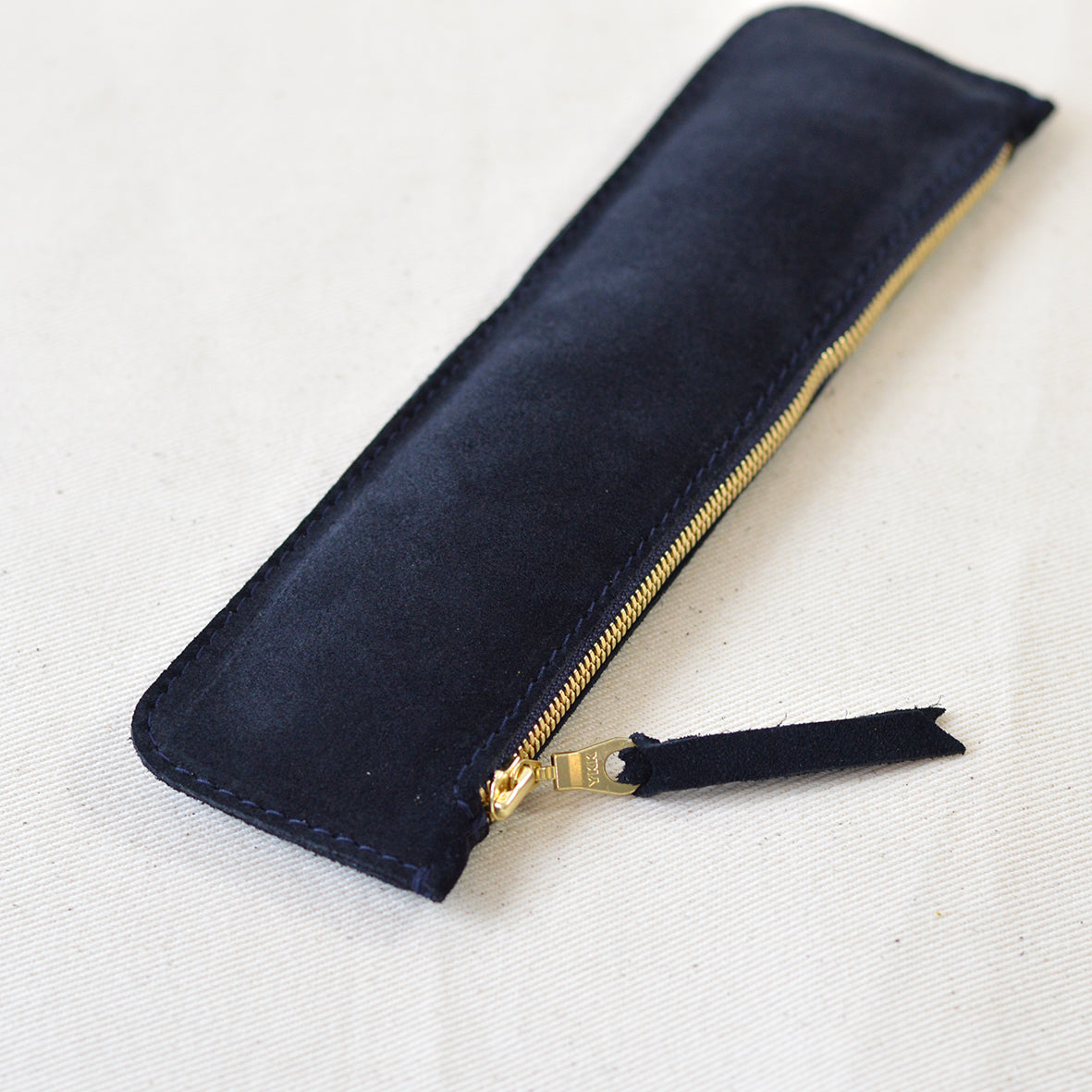 Dieter Pencil Case Navy Suede