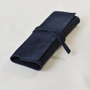 Moore Utility Leather Wrap Navy Suede