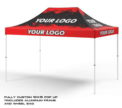 10 ft x 15 ft Custom Printed Canopy