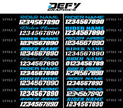 MERCY SERIES Number Plates