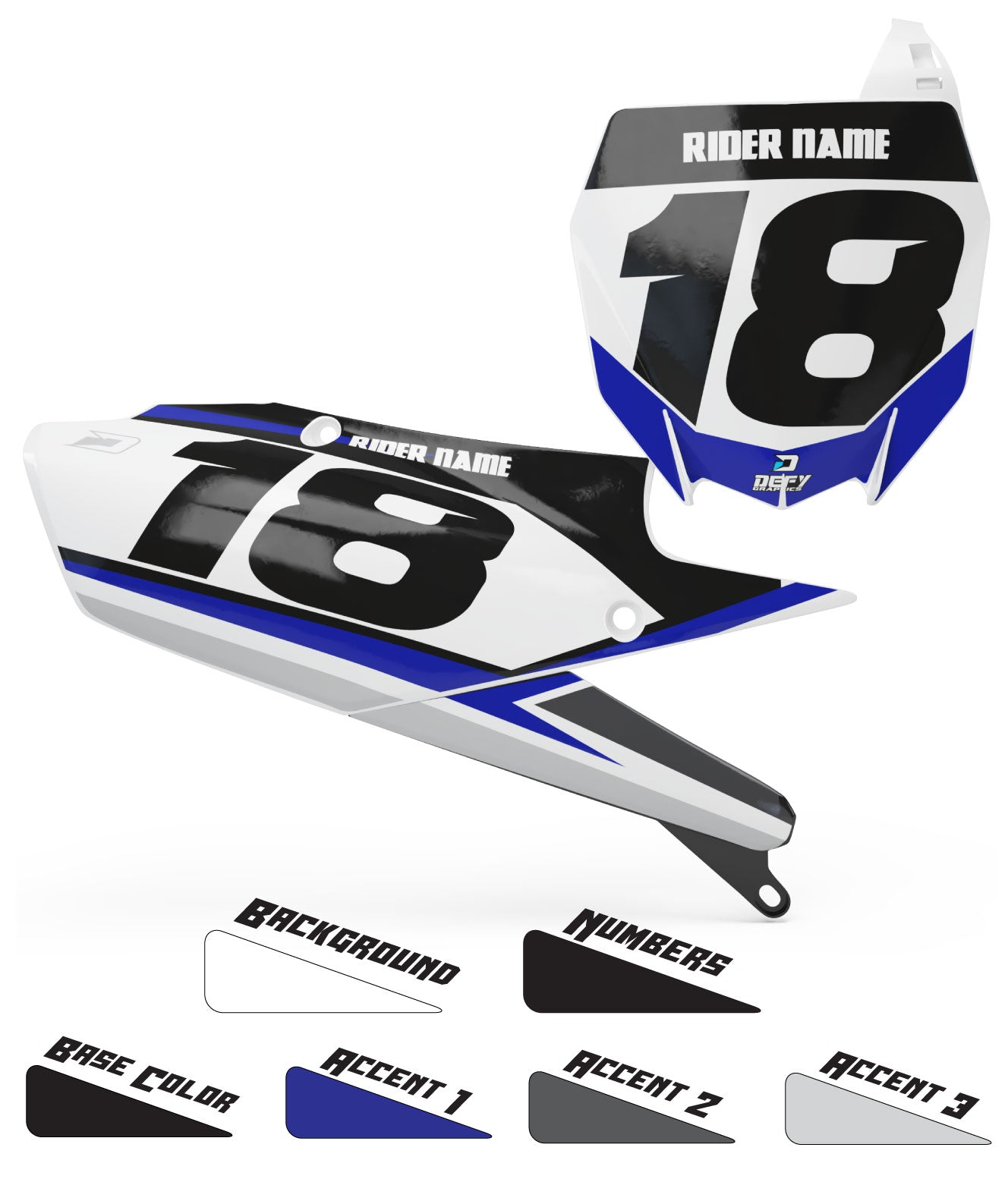 TEAM SERIES Number Plates