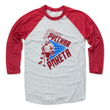 Mens Baseball T-Shirt Red / Ash